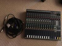 Soundcraft EFX12 Mixer & Cables
