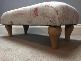 NEW upholstered footstool in French style Linen