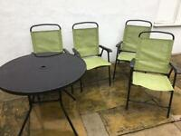 Patio table and 4 chairs, garden furniture