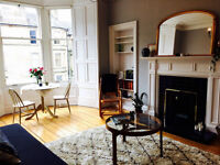 Two bed refurbished Edinburgh festival flat to rent in Stockbridge, light and spacious. Sleeps 6.