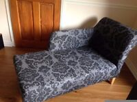 EVIE AND MONREAL CHAISE LONGUE, IN CHARCOAL BANGOR