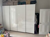 2x Pax Wardrobes in great condition