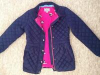 Girls JOULES Navy Quilted Warm Coat Jacket Age 11-12 Years