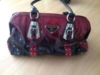 Red/ black handbag as new