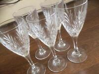 Bargain 5 beautiful exquisite crystal diamond glass wine drinking glasses