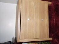 BEECH EFFECT 2 DRAWER UNIT