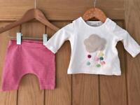 Next & Mothercare New Baby / First Size Bundle - 4 Items