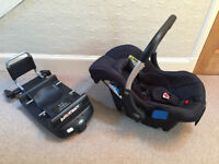 Silver Cross Isofix Car Seat Base and Car Seat