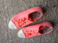 Joules trainer shoes size 7 orange