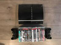 PlayStation 3 (PS3) with 20 x games and 2 x controllers