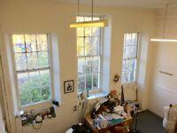 Desk space in creative studio, Edinburgh