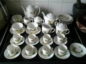 Tea set 1940s geisha lipophane