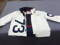 Brand New Quba X-10 MEN'S TECHNICAL SAILING JACKET - WHITE & NAVY size 5