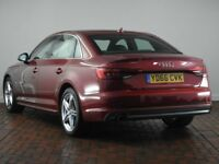 AUDI A4 2.0 TDI S LINE [Led Headlights, Apple CarPlay, Android Auto] 4DR (red) 2016