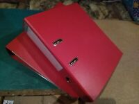 Exacompta lever arch file - red