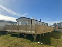 STATIC CARAVAN FOR SALE IN AYRSHIRE NEAR GLASGOW, LOW SITE FEES - PET FRIENDLY - 11 MONTH SEASON
