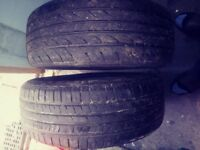 2 tyres. 205/55/R16. Part worn. Nearly new.