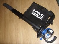 Mac Allister MBV260 Petrol Garden Leaf Blower Vac / Vacuum 26cc - Great Condition Full Working Order