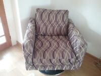 Modern swivel chair with chrome base 2years old brought from cousins