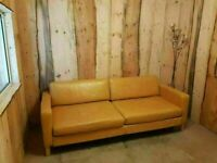 Large Leather 4 Seater Bed Settee (100% Leather)