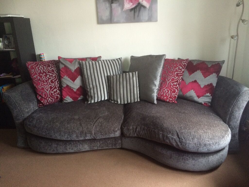 dfs elise large couch and cuddle sofa in falkirk gumtree. Black Bedroom Furniture Sets. Home Design Ideas