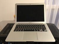 13 inch MacBook Air 7-2, 1.6 GHz, 128GB SSD, 4GB RAM. Barely used, 8 months old