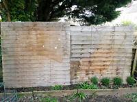 2 Overlap Fence Panels - Wooden Fencing Sheds