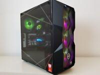 WATERCOOLED 4K GAMING PC 16 THREADS i7 10700K 16GB RX6700XT SSD1TB HDD1TB VR computer workstation