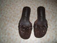 Leather slip on Sandles
