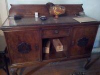 Large wooden antique sideboard