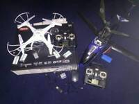 Syma Drone and Hellicopter