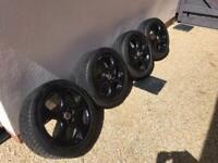 "VW Golf GTI 17"" alloys in black"