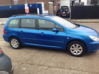 PEUGEOT 307 SW VERY GOOD CONDITION SEREO E/W C/L SERVICE HISTORY PX POSS