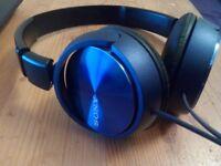 Sony MDRZX310 Foldable Headphones - Metallic Blue