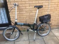 DOHAN VITESSE 7 FOLDING BIKE IN MINT CONDITION LIGHT WEIGHT READY TO RIDE AWAY