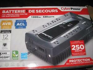 CyberPower - 1000VA Battery Back-Up System / UPS. 530Watt. 250min. Ultra Quiet. NEW