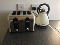 Russell Hobbs Kettle and Toaster in Cream