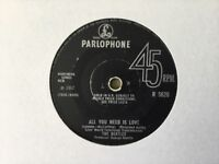R 5620 The Beatles all you need is love /baby you're a rich man 45 single 1967 GC