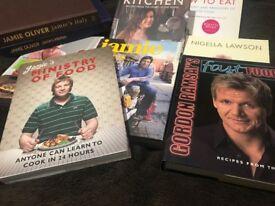 Various Cookbooks - Jamie, Nigella, Ramsey, River Cottage