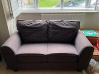 Grey material sofa 2 seater