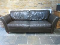 Brown Leather Sofa - excellent condition - priced to sell!