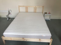 Standard Double IKEA Bed 2 months old excellent condition
