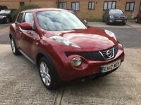 2012 Nissan Juke Acenta, Metallic Red, 2 Owners, MOT & Tax, Immaculate Condition