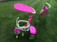 ** Very Good Condition ** - Smart Trike 4-in-1 Tricycle - Pink
