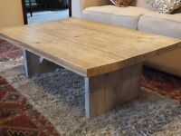 Solid Wood Rustic Style Coffee Table
