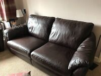 Brown Leather Sofa and Chairs