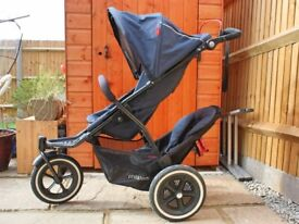 Phil & Teds Navigator V2 Sport Pushchair with Double Kit in Midnight Blue & Double Stormcover