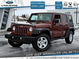 2008 Jeep WRANGLER UNLIMITED **UNLIMITED X*ÉQUIPEMENT COMPLET**
