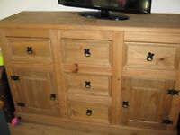 Corona Mexican style solid pine sideboard