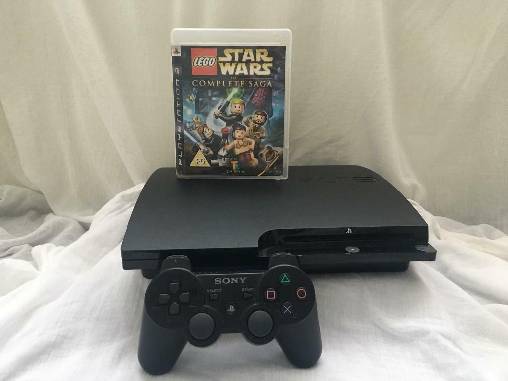 PS3 console, controller and Star Wars